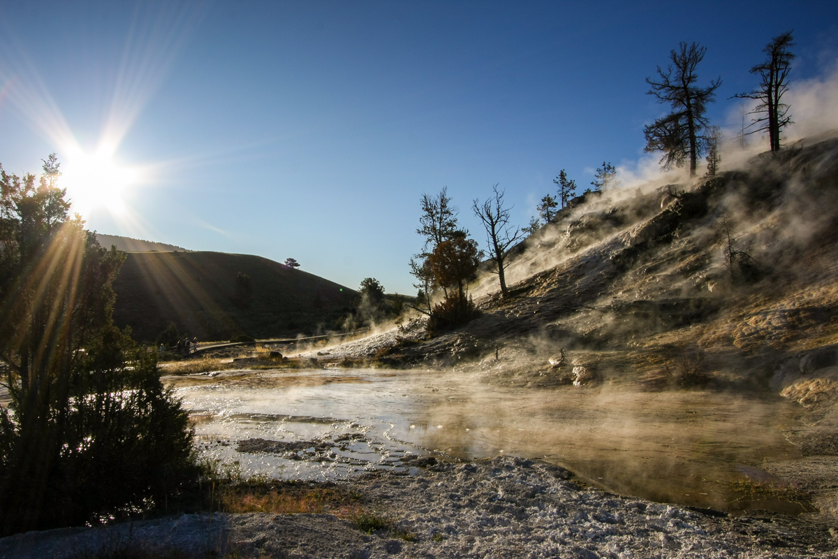 Sunrise at Yellowstone